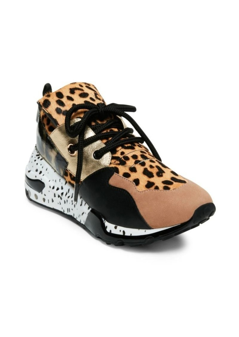 Steve Madden Cliff Mixed-Printed Lace-Up Sneakers