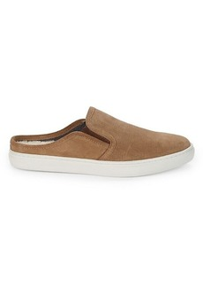 Steve Madden Comfie Faux Shearling-Lined Suede Slippers