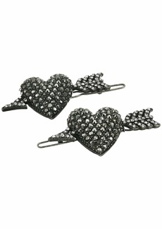 Steve Madden Cupid Heart with Arrow Design Hair Pin Set