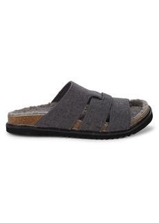 Steve Madden Ditto Crisscross Faux Fur-Lined Sandals