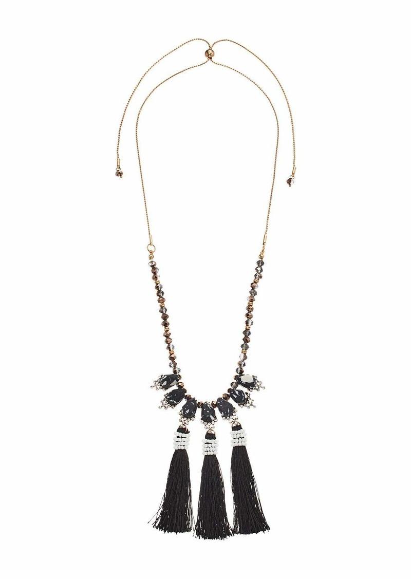 Steve Madden Drop Fringe Necklace