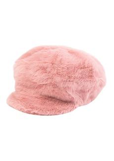 Steve Madden Faux Fur Baker Boy Hat