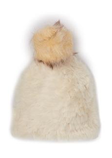 Steve Madden Faux Fur Pompom Beanie