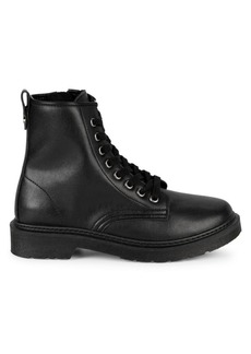 Steve Madden Flann Leather Combat Boots