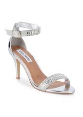 Steve Madden Florela Embellished Metallic Sandals