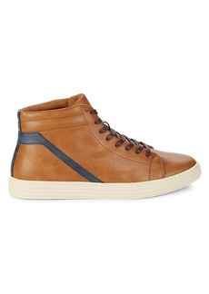 Steve Madden Halbert Faux Leather High-Top Sneakers