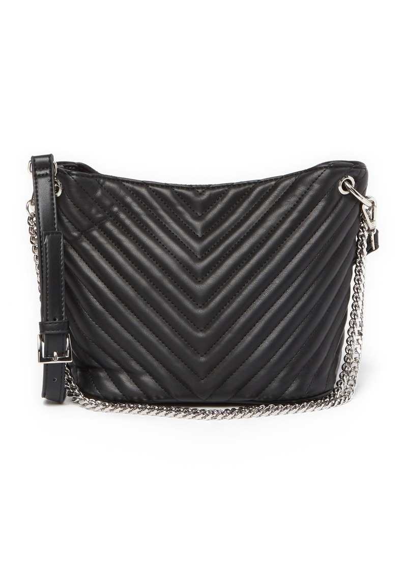 Jaime Quilted Chevron Mini Bucket Bag