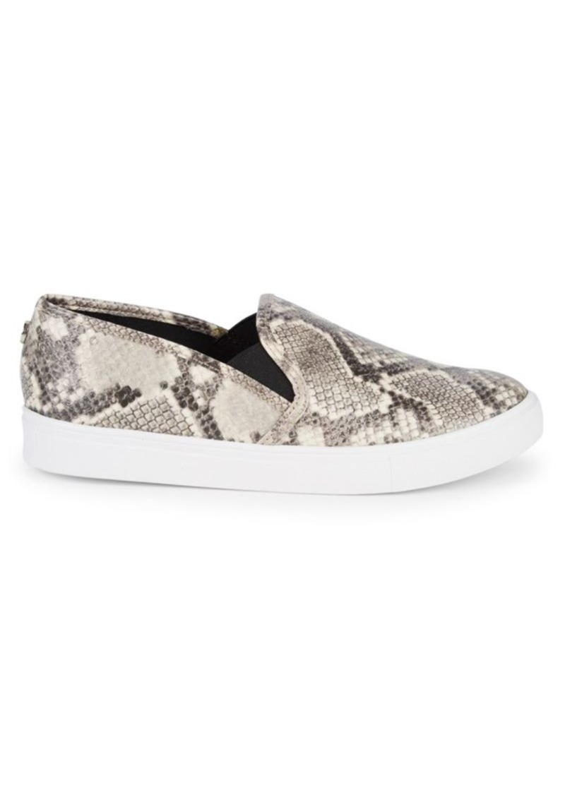 Steve Madden Jungle Snakeskin-Embossed Slip-On Sneakers