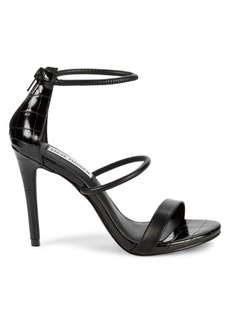 Steve Madden Klu Croc-Embossed Stiletto Sandals