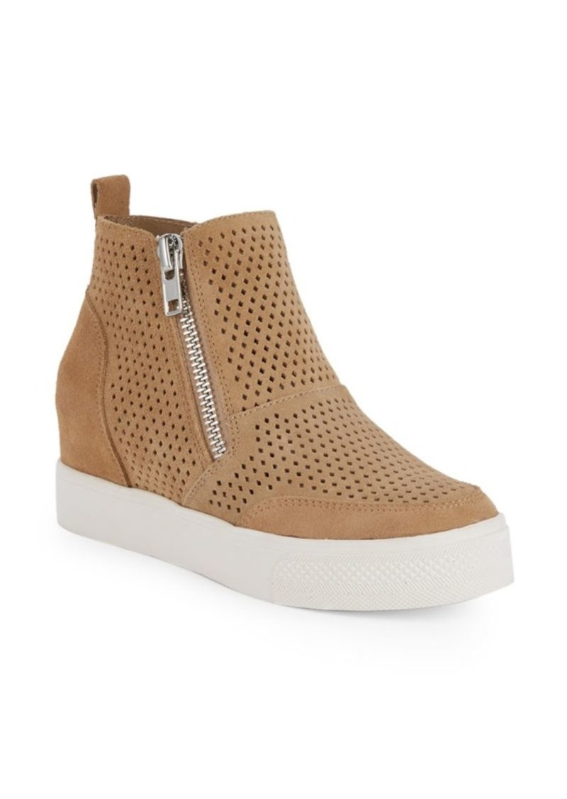 Steve Madden Laureen Perforated High-Top Wedge Sneakers