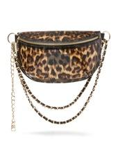 Steve Madden Leopard Print Clear Belt Bag
