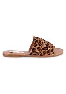 Steve Madden Masi Leopard Print Calf Hair Sandals
