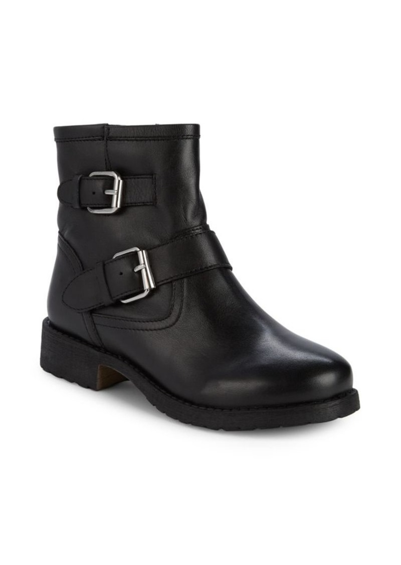 Steve Madden Morty Leather Buckle Booties