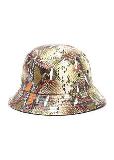Steve Madden Multi Snake Print Bucket Hat