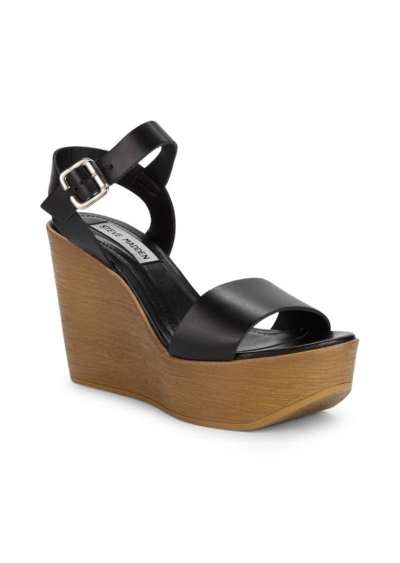Steve Madden Paden Leather Wedge Platform Sandals