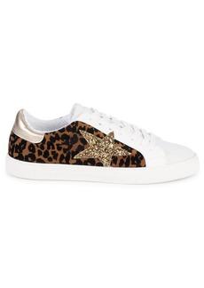 Steve Madden Ramey Cheetah Star Patch Sneakers