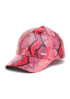 Steve Madden Snake Print Baseball Hat