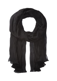 Solid Georgette Pleated Eve Wrap