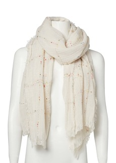 Steve Madden Speckled Grid Woven Scarf