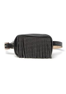 Steve Madden Square Studded Fringe Belt Bag