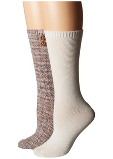 Steve Madden 2-Pack Button Crew Sock
