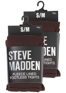 Steve Madden 2 Pack Fleece Lined Footless Tight