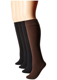 Steve Madden 4-Pack Fleece Lined Solid Knee High