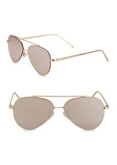 Steve Madden 55MM Aviator Sunglasses