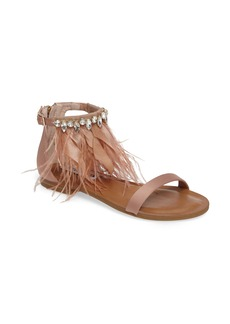 Steve Madden Adore Embellished Feather Sandal (Women)