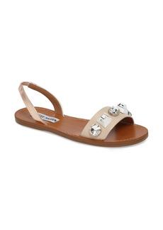 Steve Madden Ameline Embellished Flat Sandal (Women)