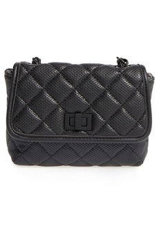 Steve Madden 'B Clarre' Perforated & Quilted Faux Leather Crossbody Bag