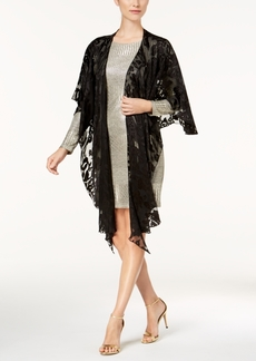 Steve Madden Baroque Burnout Draped Evening Wrap