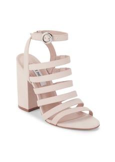 Block-Heel Cage Sandals