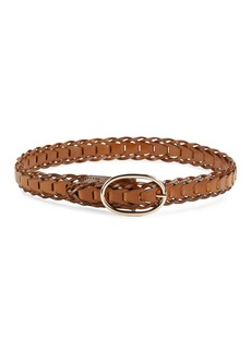 STEVE MADDEN Braided Leather Belt