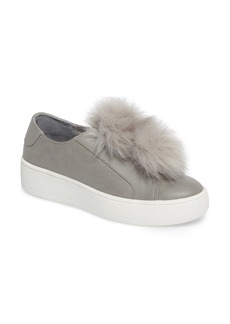 Steve Madden Breeze Faux Fur Pom Sneaker (Women)
