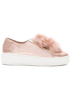 Steve Madden Breeze Faux Fur Sneaker in Metallic Copper. - size 10 (also in 6,6.5,7,7.5,8,8.5,9,9.5)
