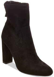 Steve Madden Brisk Block-Heel Sock Booties Women's Shoes