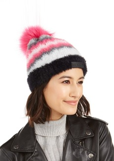 Steve Madden Brushed Knit Chevron Beanie