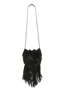 Steve Madden BSandro Fringed Faux Leather Bucket Bag