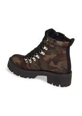 Steve Madden Bumper Camo Platform Hiking Boot (Women)