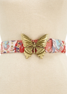 Steve Madden Butterfly-Plaque Belt