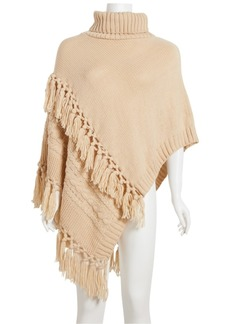 Steve Madden Cable-Knit Poncho