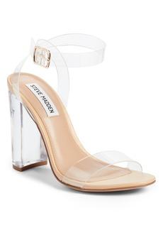 Steve Madden Camille Clear Ankle Strap Sandal (Women)