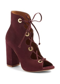 Steve Madden 'Carusso' Lace-Up Peep Toe Bootie (Women)