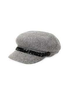 Steve Madden Chained Wool Baker Boy Hat