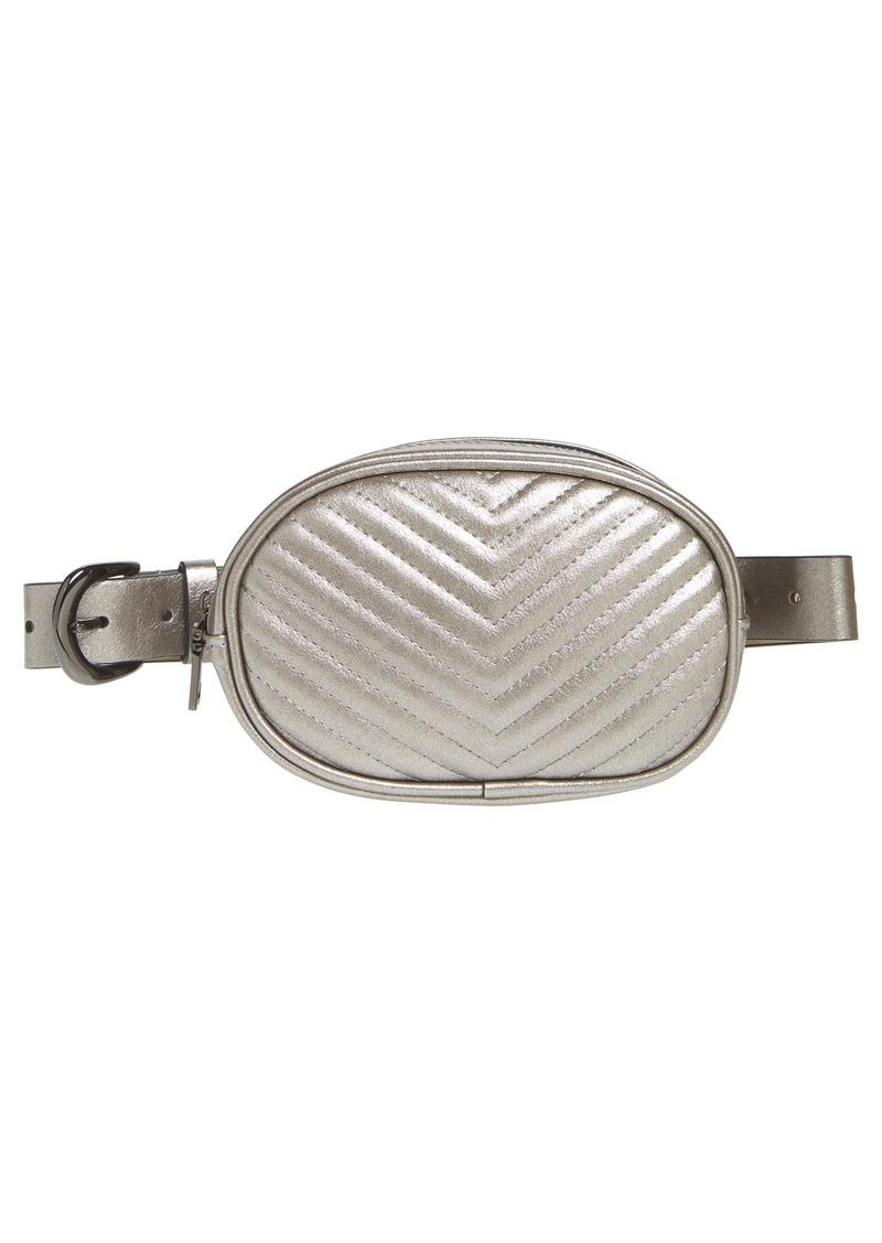 317d31e0da52 Steve Madden Steve Madden Chevron Quilted Metallic Faux Leather Belt ...