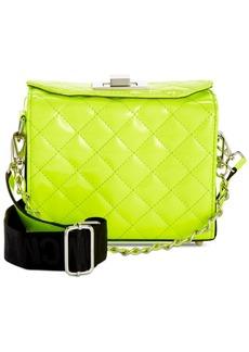 Steve Madden Chrissy Webbed-Strap Patent Box Bag