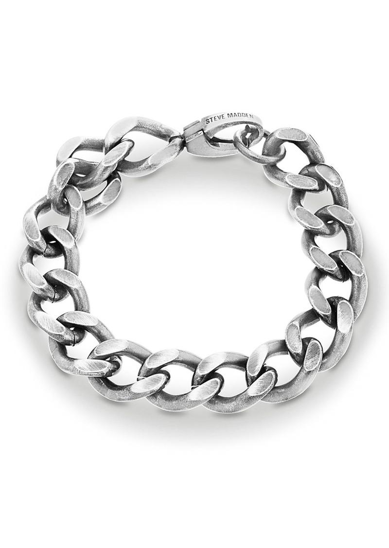 Steve Madden 'Classic' Curb Chain Bracelet