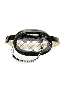 Steve Madden Clear Patent Belt Bag