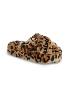 Steve Madden Comfy Faux Fur Slipper (Women)